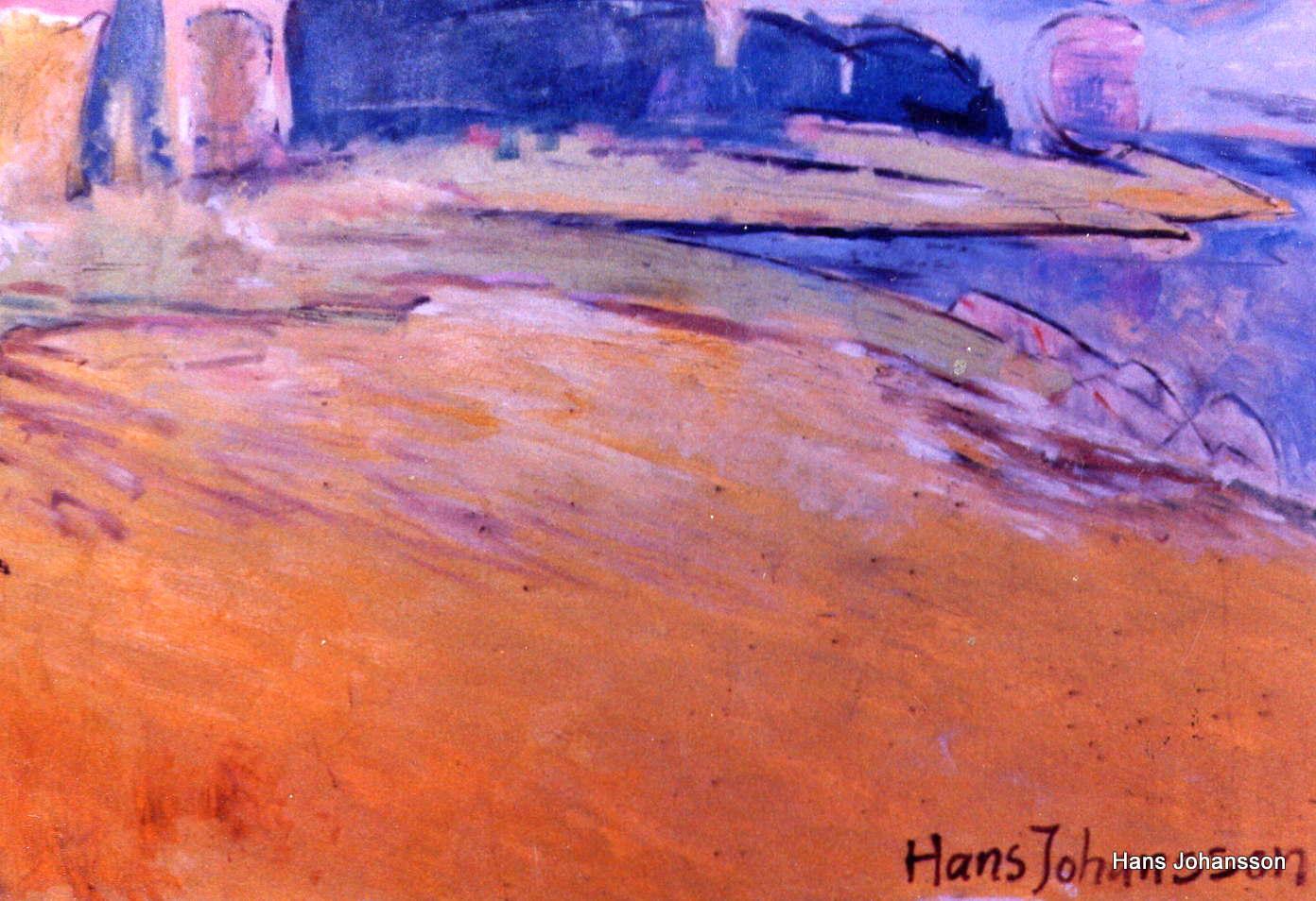 Landscape 1, oil, 2,3m x 1,2 m