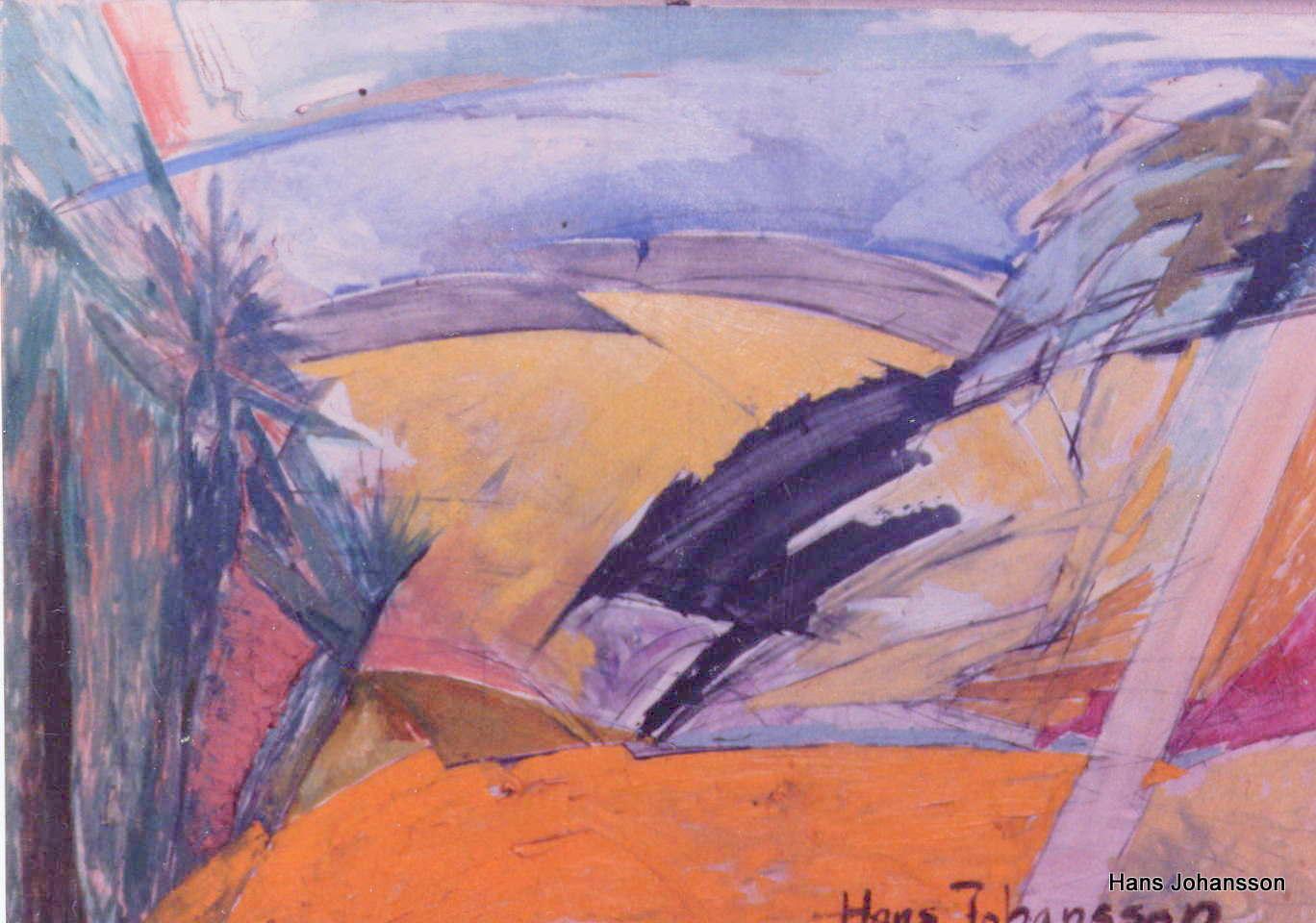 Landscape 2, oil, 2,3m x 1,2 m
