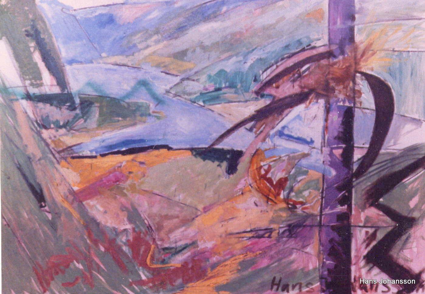 Landscape 3, oil, 2,3m x 1,2 m