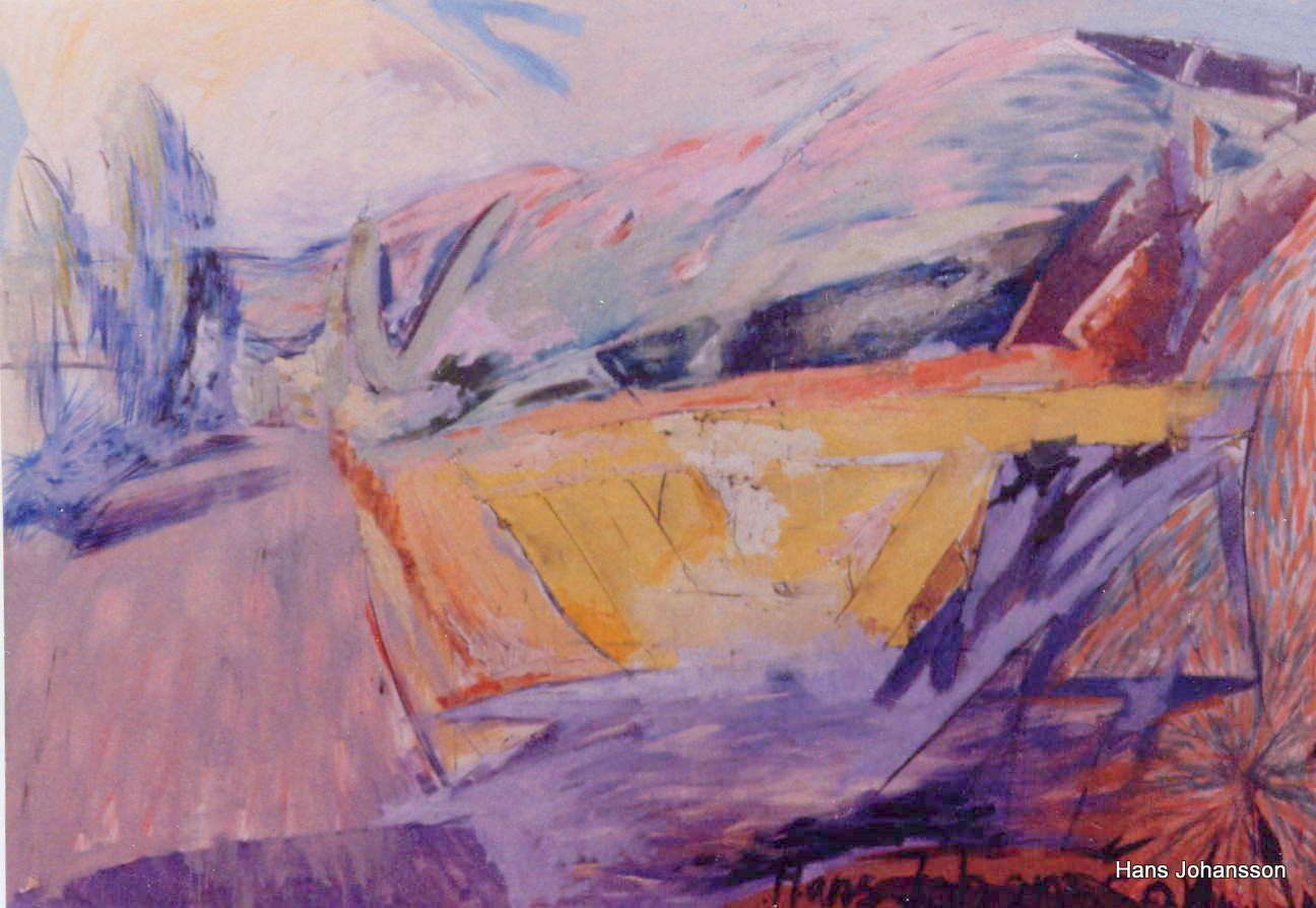 Landscape 4, oil, 2,3m x 1,2 m