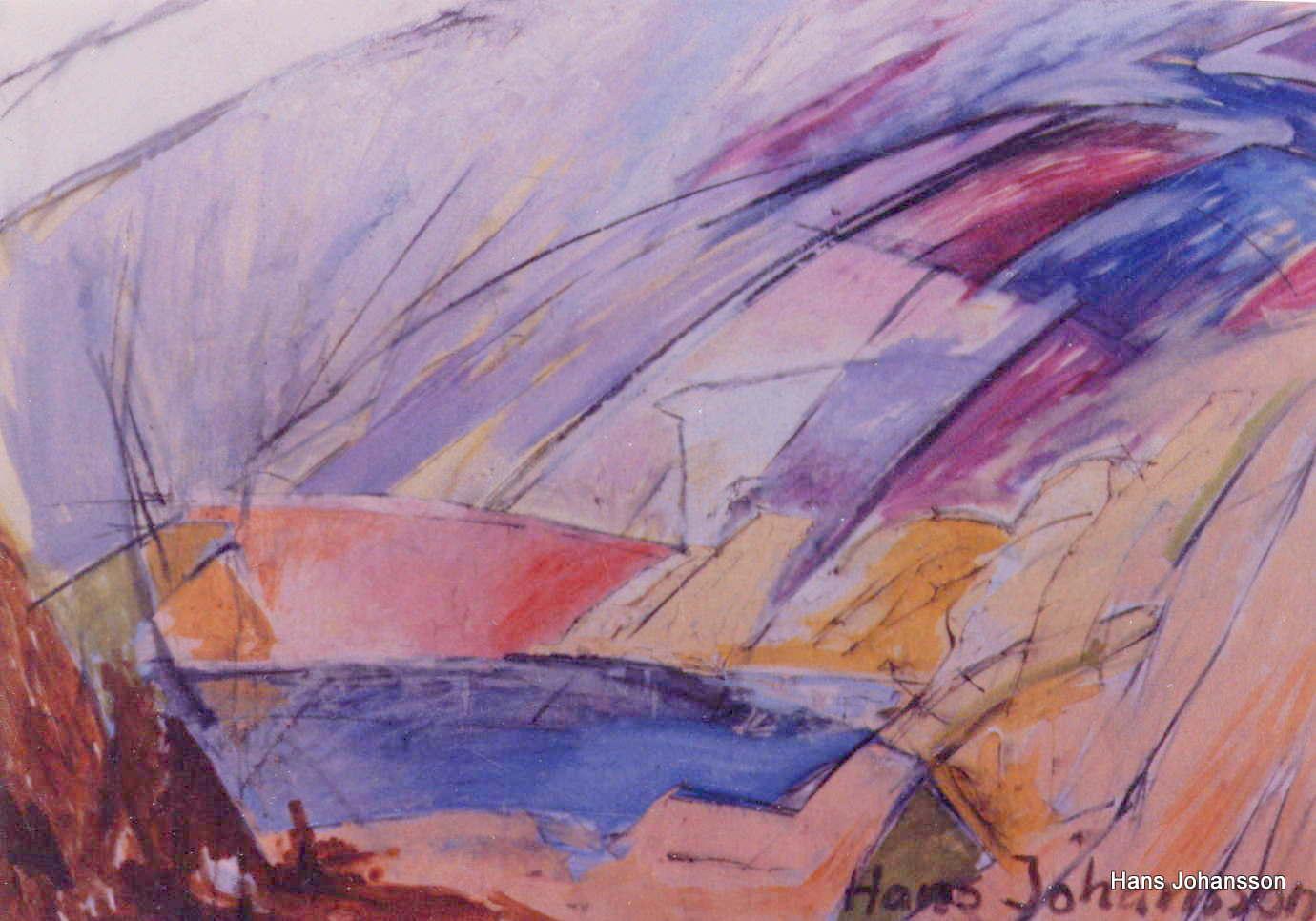 Landscape 5, oil, 2,3m x 1,2 m